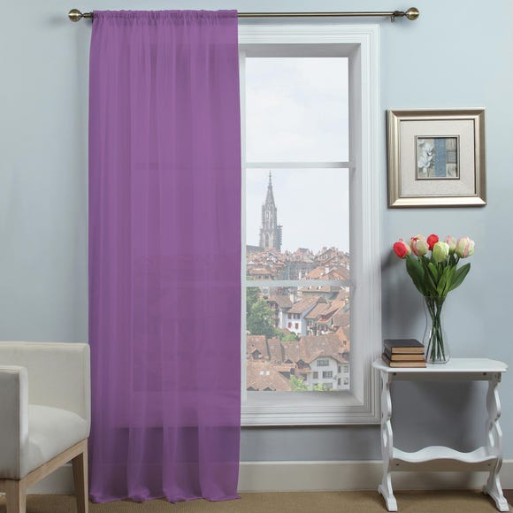 Dynamic Amethyst Single Slot Top Voile Panel  undefined
