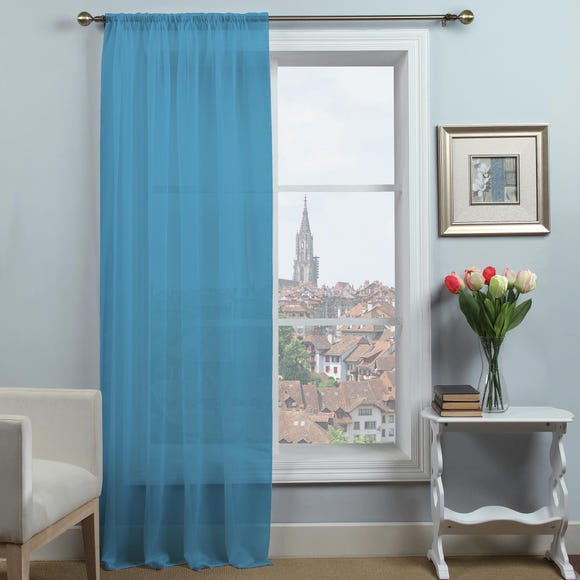 Dynamic Sky Blue Single Slot Top Voile Panel  undefined