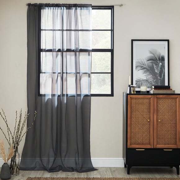 Dynamic Grey Single Slot Top Voile Panel  undefined
