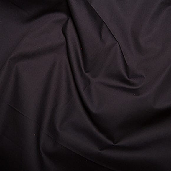 Black Plain Cotton Poplin Black