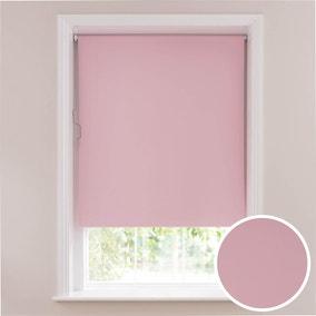 Soft Pink Blackout Cordless Roller Blind
