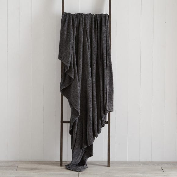 Chenille Charcoal Throw  undefined