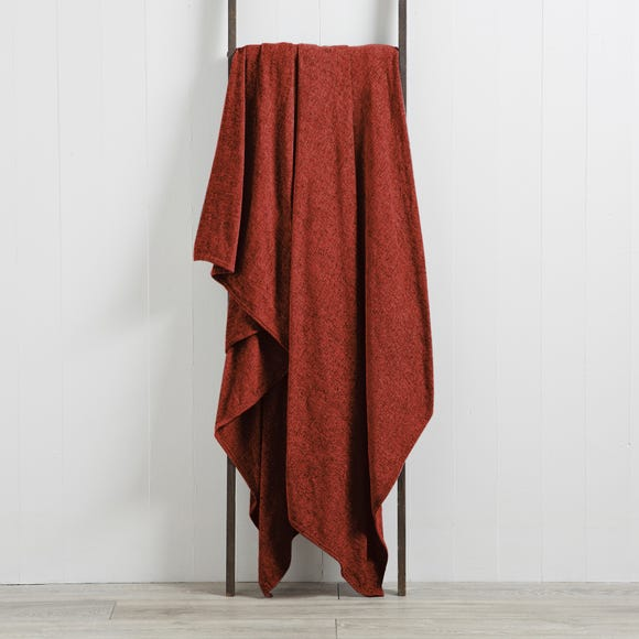 Chenille Red Throw  undefined