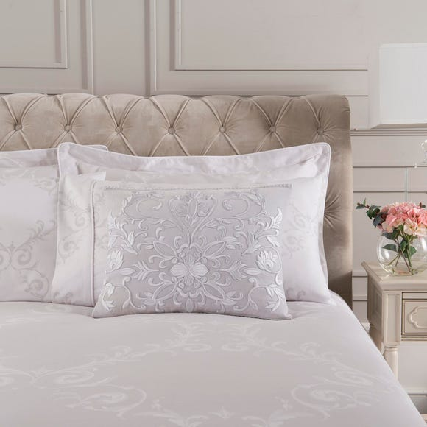 Dorma Palais Grey Rectangular Cushion Grey