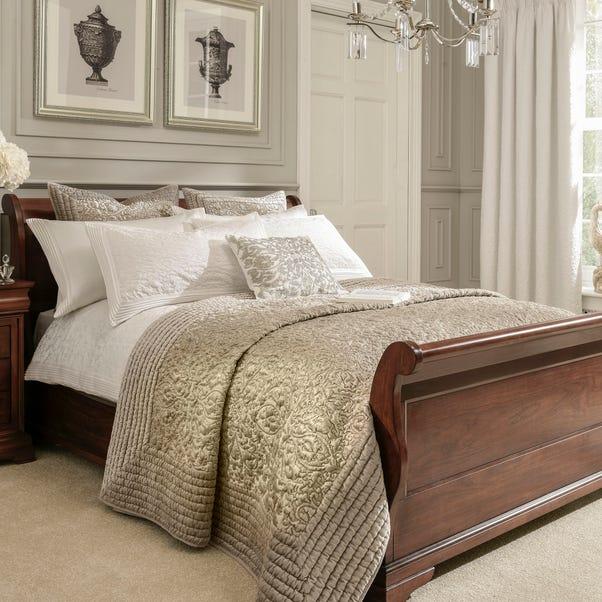 Dorma Charlbury Champagne Bedspread  undefined