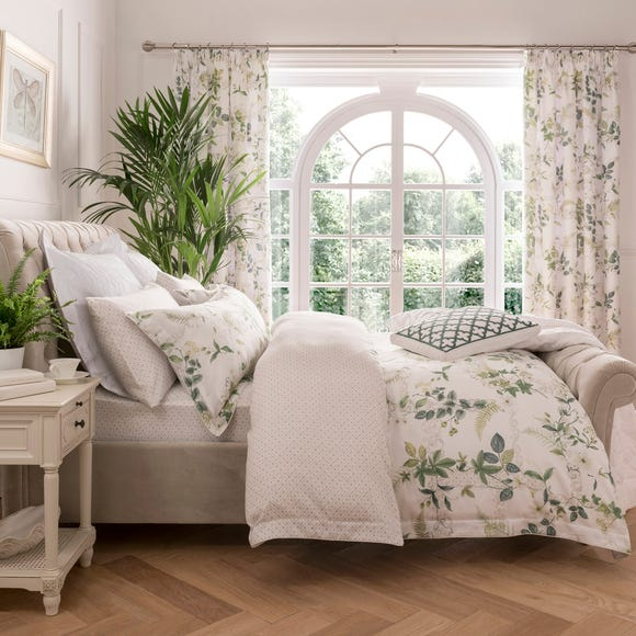 Dorma Botanical Garden Digitally Printed 100% Cotton Duvet Cover Green undefined