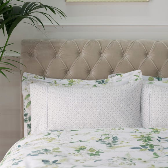 Dorma Botanical Garden Cuffed Pillowcase Green