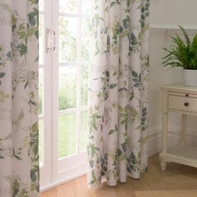 Dorma Botanical Garden Blackout Pencil Pleat Curtains