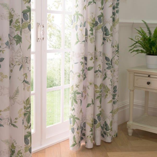 Dorma Botanical Garden Blackout Pencil Pleat Curtains Green undefined