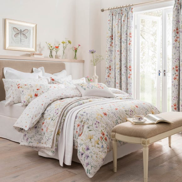 Dorma Wildflower Digitally Printed 100% Cotton Duvet Cover  undefined