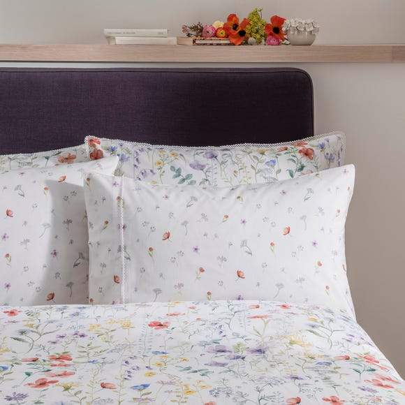 Dorma Wildflower Cuffed Pillowcase Multi Coloured