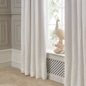 Dorma Charlbury Cream Blackout Pencil Pleat Curtains