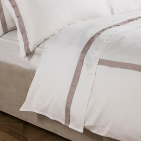 Dorma 100% Cotton 300 Thread Count Maddison Natural Flat Sheet