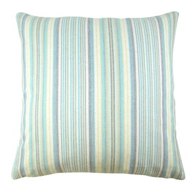Blue Coastal Stripe Cushion Cover
