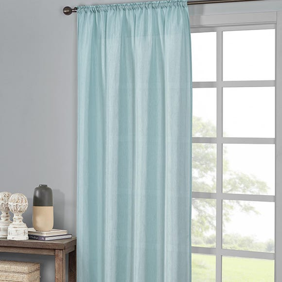 Ella Seafoam Slot Top Single Voile Panel  undefined