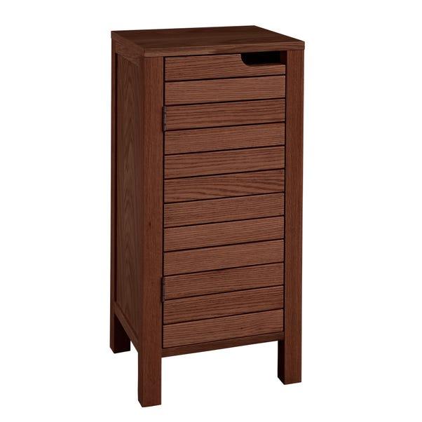 Marseille Acacia Slatted Storage Unit Wood (Brown)