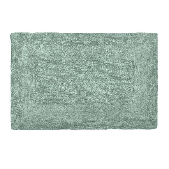 Super Soft Reversible Seafoam Bath Mat Seafoam (Blue)