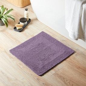 Super Soft Reversible Lavender Square Bath Mat