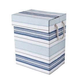 Nautical Stripe Laundry Basket