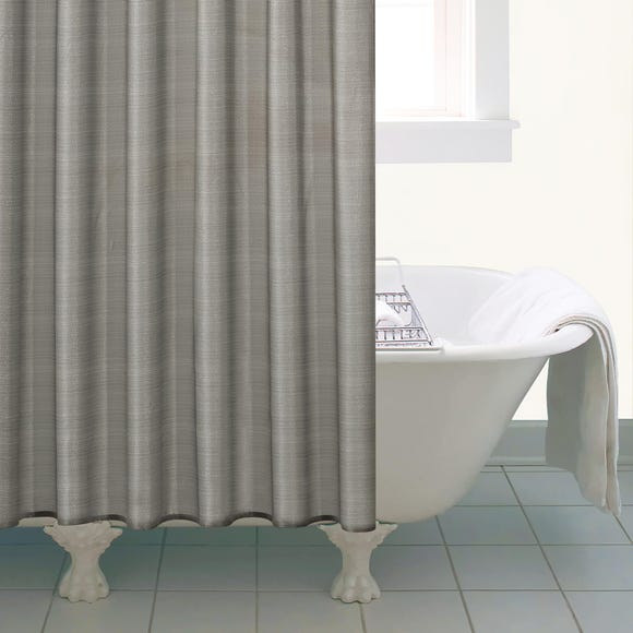 Silver Sparkle Shower Curtain Silver