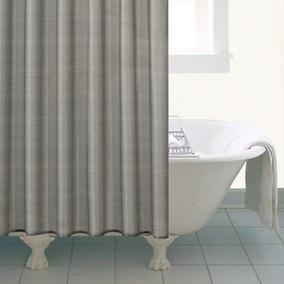 Silver Sparkle Shower Curtain