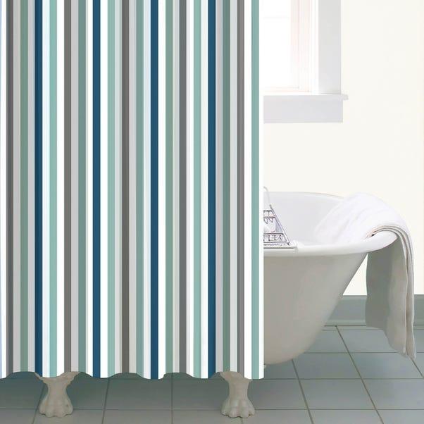 Nautical Bold Stripe Shower Curtain Multi Coloured