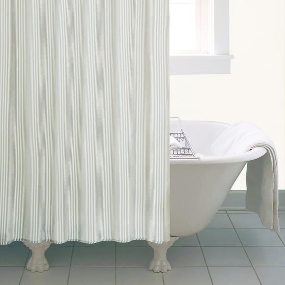 Natural Skinny Stripe Shower Curtain Natural
