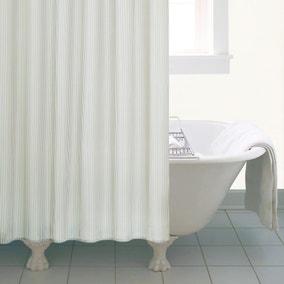 Natural Skinny Stripe Shower Curtain