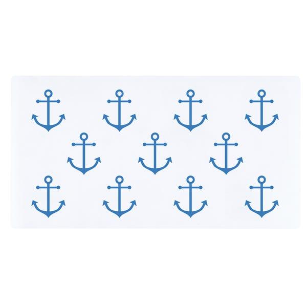 White Nautical Bath Mat White
