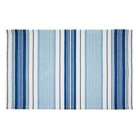 Nautical Stripe Flatweave Bath Mat