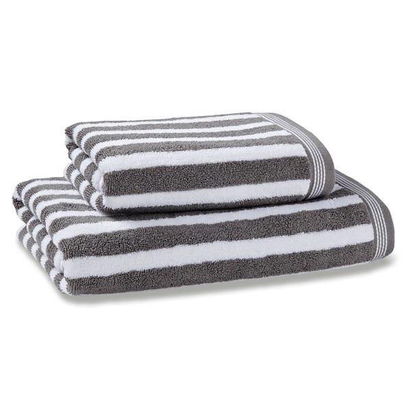 Nautical Stripe Grey Towel  undefined
