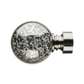 Mix and Match Satin Silver Mercury Glass Ball Finials Dia. 28mm
