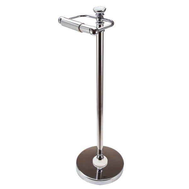Vintage Freestanding Toilet Roll Holder Chrome