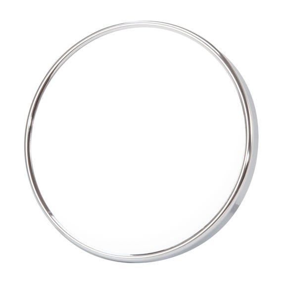 Glass Suction Mirror Silver