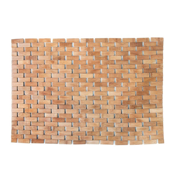 Wooden Tile Bath Mat Bamboo
