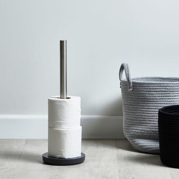Grey Resin Toilet Roll Holder Grey