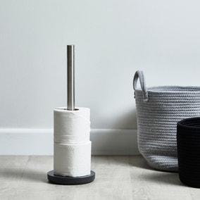 Grey Resin Toilet Roll Holder