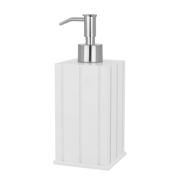 Tongue & Groove Lotion Dispenser White