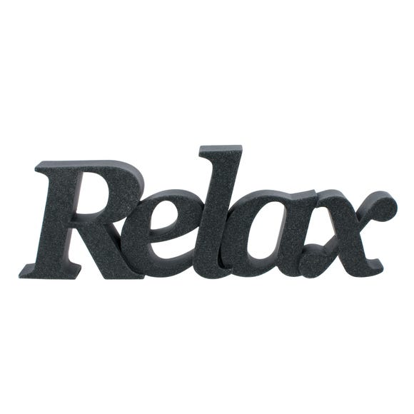 Relax Grey Resin Word Grey
