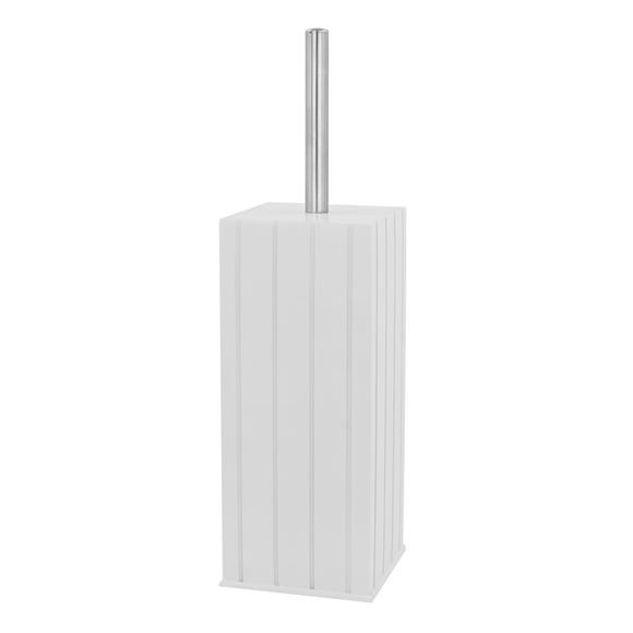 Tongue & Groove Toilet Brush Holder White