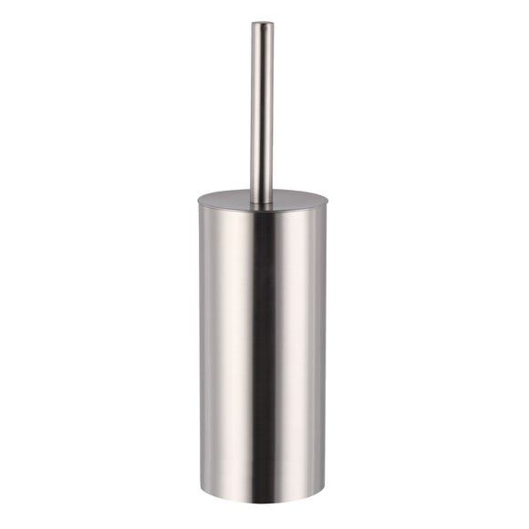 Brushed Metal Toilet Brush Silver