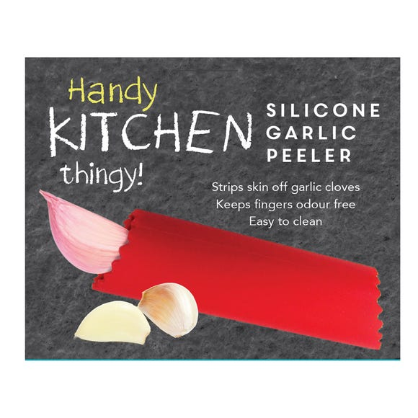 Dunelm Silicone Garlic Peeler Red