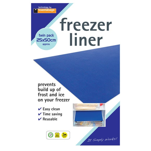 Toastabags Pack of 2 Freezer Liners Blue