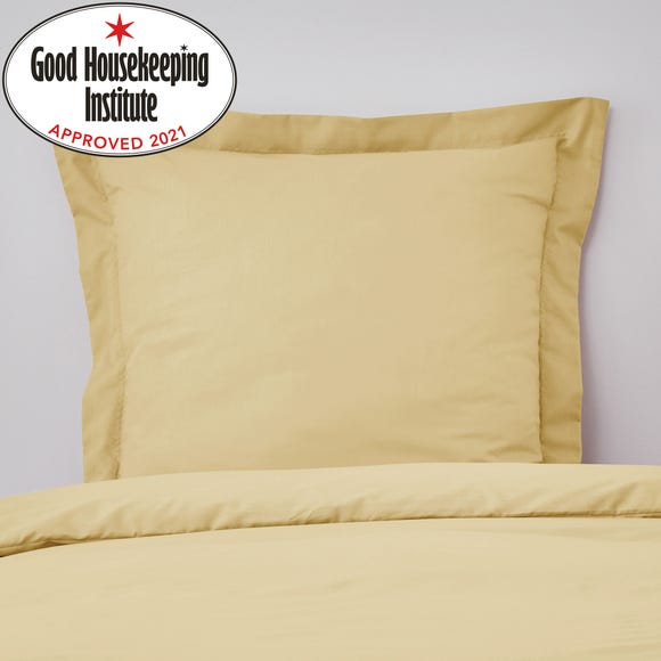 Non Iron Plain Dye Ochre Continental Square Pillowcase
