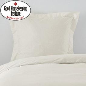 Non Iron Plain Dye Ivory Continental Square Pillowcase