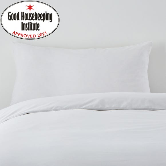 Non Iron Plain Dye White Bolster Pillowcase