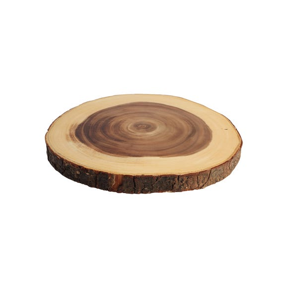 T&G Acacia Round Board Brown