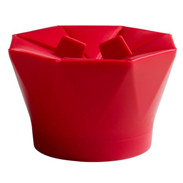 Chef'n PopTop Microwave Popcorn Popper Red