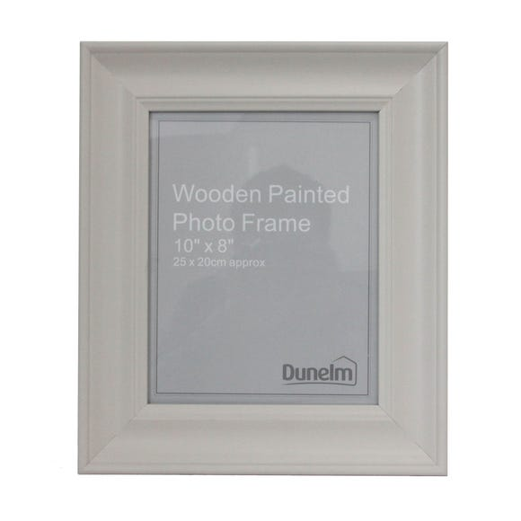 """Grey Painted Wooden Photo Frame 10"""" x 8"""" (25cm x 20cm) Grey"""