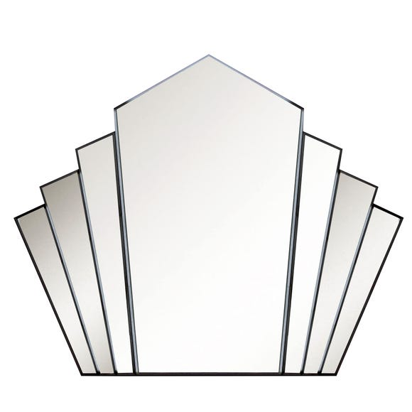 Decorative Fan Wall Mirror 80x100cm Clear